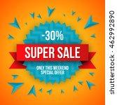 sale vector origami concept... | Shutterstock .eps vector #462992890