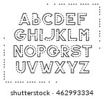 dotted line latin font ... | Shutterstock .eps vector #462993334