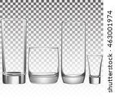 set empty drinking glass | Shutterstock .eps vector #463001974