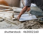 tile cutting worker working... | Shutterstock . vector #463002160