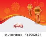 diwali festival template design ... | Shutterstock .eps vector #463002634