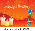 birthday candles and gifts | Shutterstock .eps vector #46300621