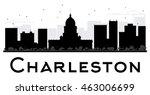 charleston city skyline black...   Shutterstock .eps vector #463006699