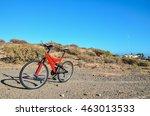 modern red full suspension... | Shutterstock . vector #463013533