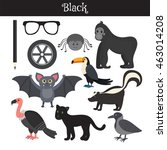 black. learn the color.... | Shutterstock .eps vector #463014208