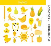 yellow. learn the color.... | Shutterstock .eps vector #463014304