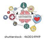 health icons arthritis concept...