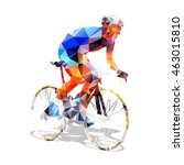 cycling. abstract geometrical... | Shutterstock .eps vector #463015810