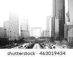 skyscrapers cityscape with... | Shutterstock . vector #463019434