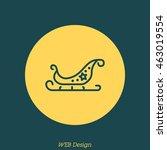 web line icon. santa's sleigh | Shutterstock .eps vector #463019554