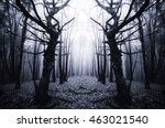 surreal forest with scary trees | Shutterstock . vector #463021540