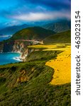big sur coast at the bixby... | Shutterstock . vector #463023154