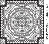 vector ethnic seamless pattern... | Shutterstock .eps vector #463023160