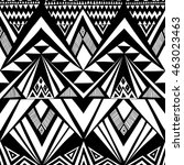 black and white color tribal... | Shutterstock .eps vector #463023463