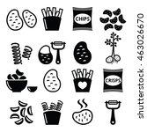 potato  french fries  crisps ... | Shutterstock .eps vector #463026670