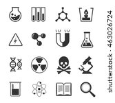 chemistry vector icons set | Shutterstock .eps vector #463026724