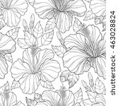 vector seamless pattern with... | Shutterstock .eps vector #463028824