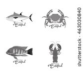 isolated sea food label design  ...   Shutterstock .eps vector #463030840