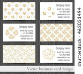 vector set of business cards... | Shutterstock .eps vector #463031494