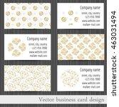 vector set of business cards... | Shutterstock .eps vector #463031494