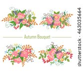 autumn vintage collection of... | Shutterstock .eps vector #463035664