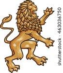 the heraldic lion. a vector... | Shutterstock .eps vector #463036750