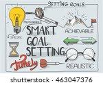 smart goal setting concept | Shutterstock .eps vector #463047376