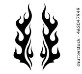flame tattoo tribal vector... | Shutterstock .eps vector #463047949