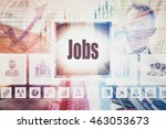 business jobs collage concept   Shutterstock . vector #463053673