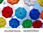 colorful umbrella with colors... | Shutterstock . vector #463053964