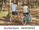 couple of cyclists riding... | Shutterstock . vector #463056064