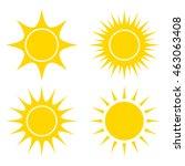 sun vector symbol icon design.... | Shutterstock .eps vector #463063408