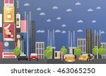 taxi service company concept... | Shutterstock . vector #463065250