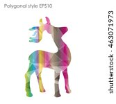 colorful deer in geometric...   Shutterstock .eps vector #463071973