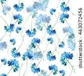watercolor vintage floral... | Shutterstock . vector #463072456
