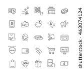 shopping icons. e commerce set. | Shutterstock .eps vector #463074124