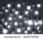 lights bulb abstract vector... | Shutterstock .eps vector #463074940