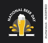 national beer day vector... | Shutterstock .eps vector #463089803