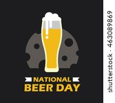 national beer day vector... | Shutterstock .eps vector #463089869