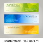 low poly vector banners set | Shutterstock .eps vector #463100174