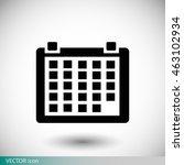 kalendar icon | Shutterstock .eps vector #463102934