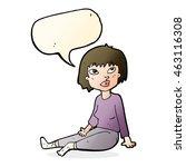 cartoon woman sitting on floor... | Shutterstock . vector #463116308