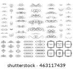vintage set exclusive borders... | Shutterstock .eps vector #463117439