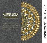 vector mandala decor for your... | Shutterstock .eps vector #463117619
