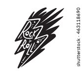 rock and roll lettering for t... | Shutterstock .eps vector #463118690