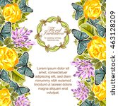 vintage delicate invitation... | Shutterstock . vector #463128209