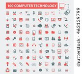 computer technology icons | Shutterstock .eps vector #463129799