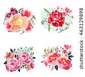flower set | Shutterstock . vector #463129898