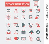 seo optimization icons | Shutterstock .eps vector #463134140