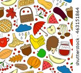 colorful seamless pattern with... | Shutterstock .eps vector #463151864